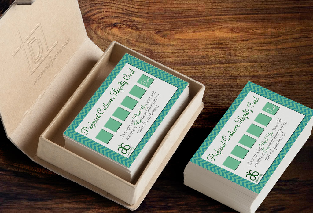 Arbonne customer loyalty punch card template independent arbonne customer loyalty punch card template independent consultant business branding marketing arbonne green herringbone loyalty card colourmoves