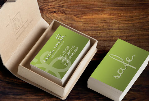 Arbonne 2-Sided Business Card PDF Template - Arbonne Green Safe Business - digital detours