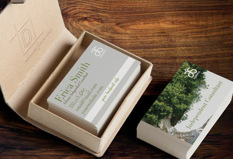 Arbonne 2-Sided Business Card Template - Independent Consultant Business Branding & Marketing - Arbonne Partial Tree Business Card - digital detours