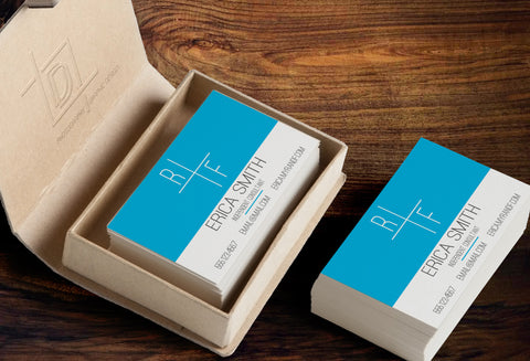 Rodan + Fields Business Card Template - Independent Consultant Business Branding & Marketing - Blue RplusF Business card - digital detours