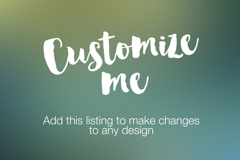 Customize Me Add-On Listing - digital detours