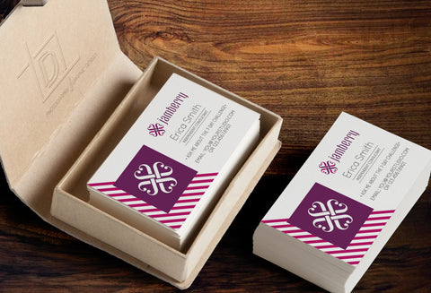 Jamberry Business Card Template - Independent Consultant Business Branding & Marketing - Jamberry Diagonal Lines Business card - digital detours