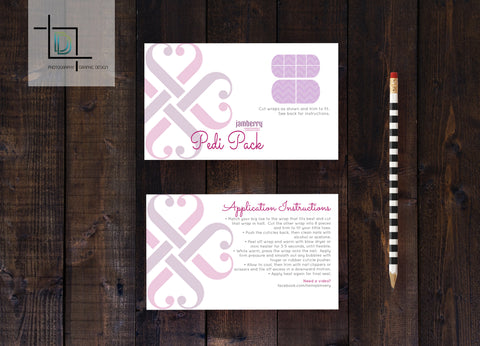 Jamberry Pedi Pack front Template - Independent Consultant Business Branding & Marketing - Jamberry Heart Pedi Pack front - digital detours