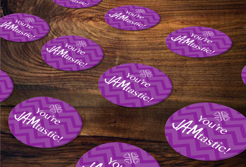 Jamberry Round Stickers/Envelope Seals - Independent Consultant Business Branding & Marketing - Jamberry JAMtastic Sticker - digital detours