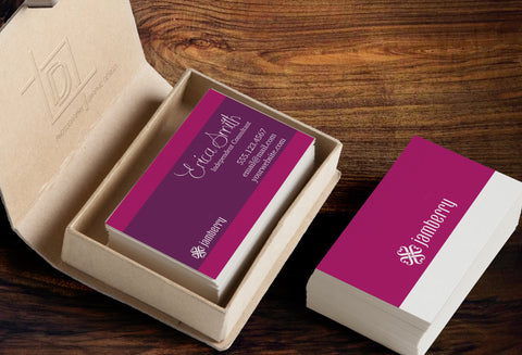 Jamberry 2-Sided Business Card Template - Independent Consultant Business Branding & Marketing - Jamberry Pink Box Business Card - digital detours