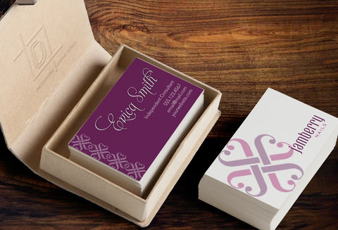 Jamberry 2-Sided Business Card Template - Independent Consultant Business Branding & Marketing - Jamberry Purple Left Logos Business Card - digital detours
