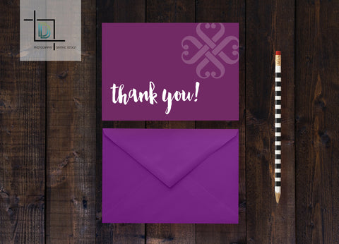 Jamberry Thank You Note Card - Independent Consultant Business Branding & Marketing - Jamberry Purple Thank you Notecard - digital detours