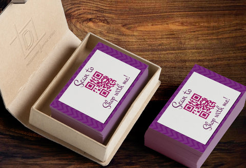 Jamberry QR Code Business Card Template - Independent Consultant Business Branding & Marketing - Jamberry QR Business Card - digital detours