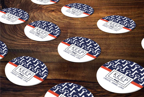 KEEP Collective Round Stickers/Envelope Seals - Independent Designer Business Branding & Marketing - KC Key Sticker - digital detours
