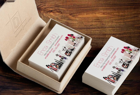 Mary Kay Business Card Template - Independent Consultant Business Branding & Marketing - MK Bottom Product Lines Business Card - digital detours