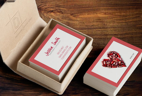 Mary Kay 2-Sided Business Card Template - Independent Consultant Business Branding & Marketing - MK Lipstick Heart Business Card - digital detours