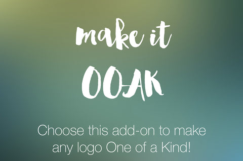 Logo Add-On OOAK - Transform your premade logo design into an Exclusive design by making it OOAK - digital detours