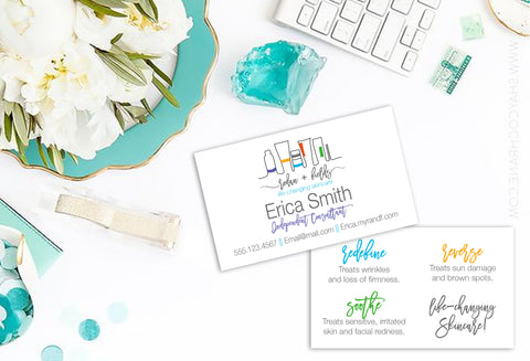 Rodan + Fields 2-Sided AUSTRALIAN Business Card - RF Handdrawn Products AUS Business card
