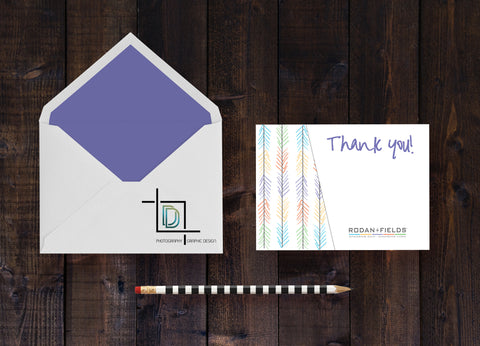 Rodan + Fields Thank You Card - Independent Consultant Business Branding & Marketing - RF Handdrawn Arrow Thank You Card - digital detours