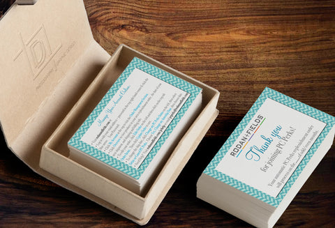 Rodan + Fields 2-Sided PC Perks Concierge Business Card Template - Independent Consultant Business Branding - RF Herringbone PC Thanks Business card - digital detours