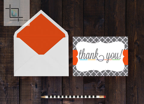 Rodan + Fields Thank You Card - Independent Consultant Business Branding & Marketing - RF Moroccan Thank You Card - digital detours