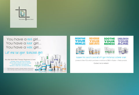 Rodan + Fields 2-Sided PC Perks Voucher - RF Skincare Girl PC Perks Voucher