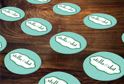 stella & dot Round Stickers/Envelope Seals - Independent Consultant Business Branding & Marketing - SD Green Luxe Logo Sticker - digital detours