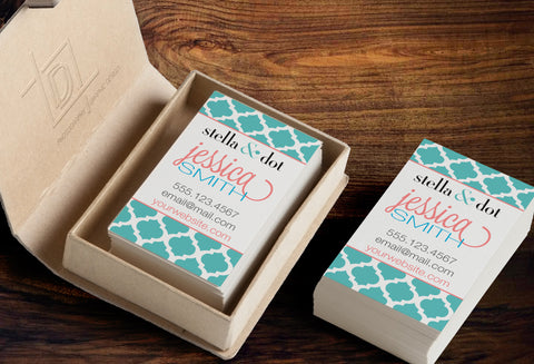 stella & dot Business Card Template - Independent Consultant Business Branding & Marketing - SD Moroccan Business card - digital detours