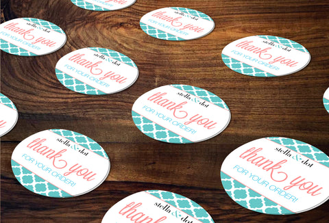 stella & dot Round Stickers/Envelope Seals - Independent Consultant Business Branding & Marketing - SD Moroccan Sticker - digital detours