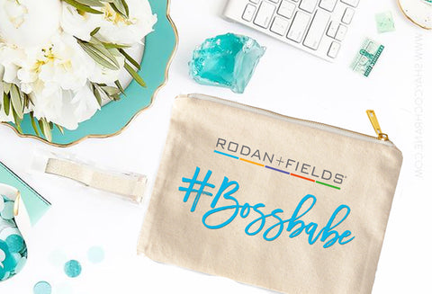 Rodan + Fields #Bossbabe Cosmetic Bag - digital detours