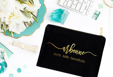 Arbonne Gold or Silver Foil Cosmetic Bag - digital detours