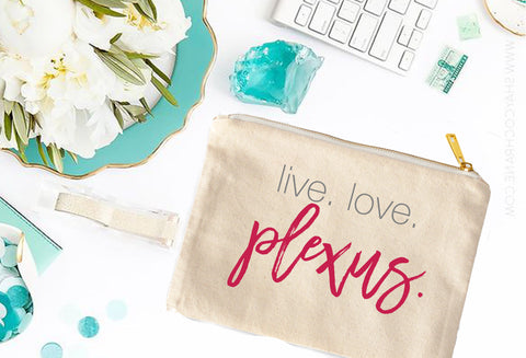 Plexus live. love. plexus. Cosmetic Bag - digital detours