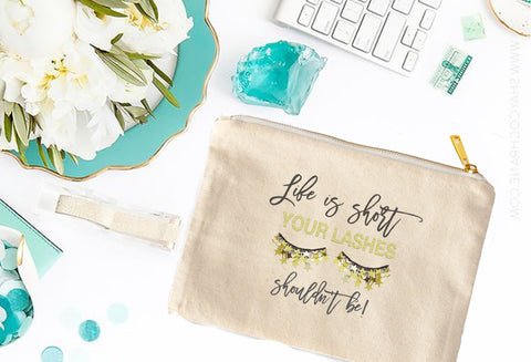 Rodan + Fields Life is Short but your lashes shouldn't be Cosmetic Bag - digital detours