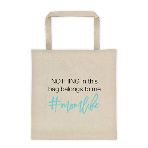 Funny #momlife Canvas Tote bag
