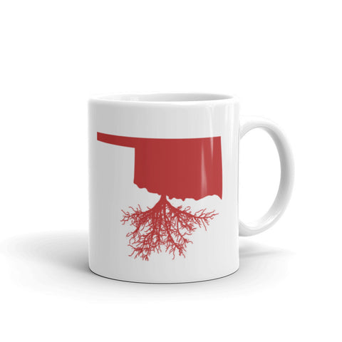 Crimson Oklahoma Roots Mug made in the USA by digital detours - digital detours