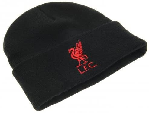 Liverpool FC  Red Crest Knitted Turn Up Hat
