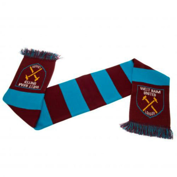 West Ham United FC - Claret and Blue Bar Scarf