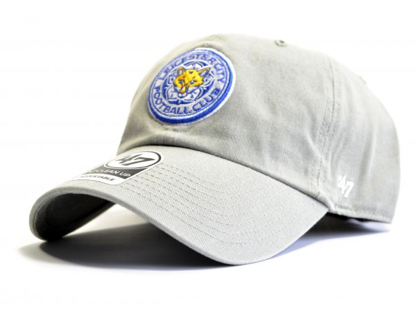 Leicester City FC 47 Clean Up Grey Cap