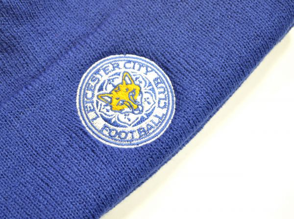 Leicester City FC Blue Turn Up Beanie Hat