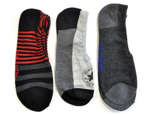 Converse Made For Chucks No Show Men's Socks 3 Pack 7-12