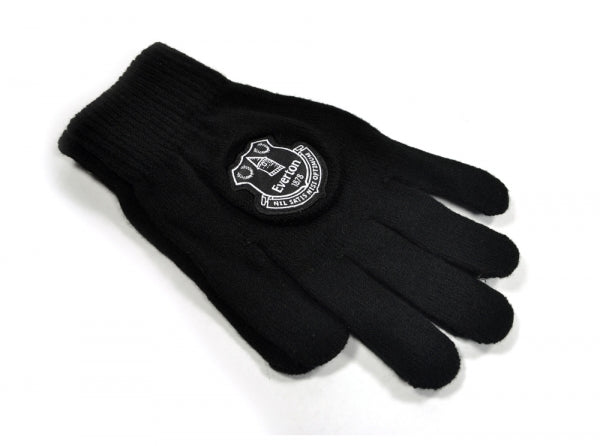 Everton FC - Adult Black Knitted Gloves