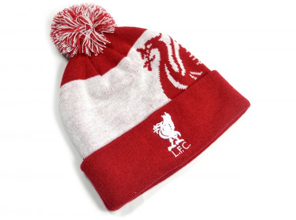 Liverpool FC  White / Red Knitted Ski Hat
