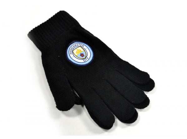 Manchester City FC - Adult Black Knitted Gloves