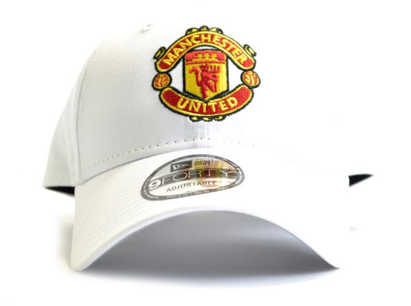 Manchester United FC  New Era 9Forty White Crest Cap