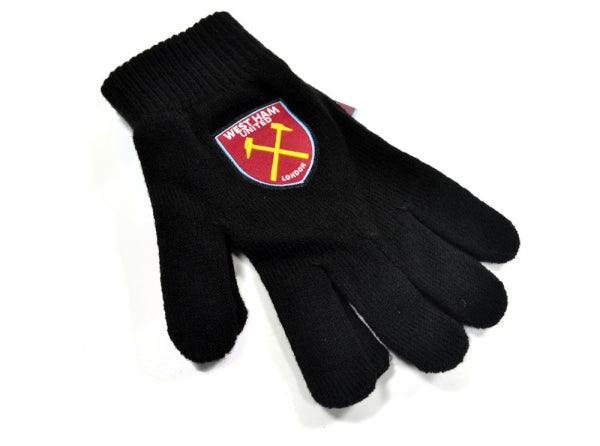 West Ham United FC - Adult Black Knitted Gloves