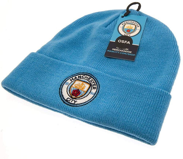 Manchester City FC Turn Up Sky Knit Hat