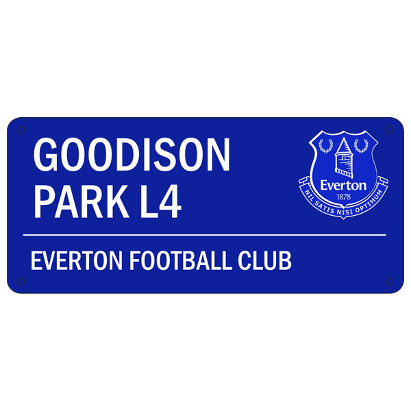 Everton FC  Blue Goodison Park Street Sign