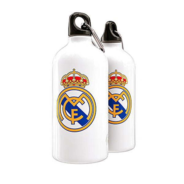 Real Madrid - White Crest Drinks Bottle - 400ml