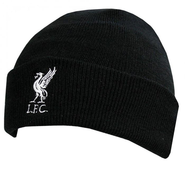 Liverpool FC  Black Knitted Turn Up Hat
