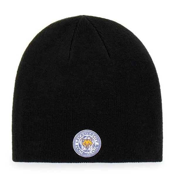 Leicester City FC Black Knitted Beanie Hat