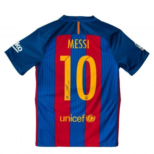 FC Barcelona  - Messi Signed Jersey With Photo & COA