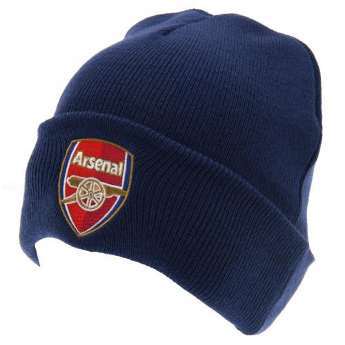 Arsenal FC  - Navy Knitted Turn Up Hat