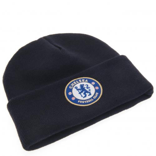 Chelsea FC - Turn Up Navy Knitted Hat