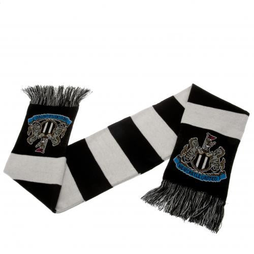 Newcastle United FC Black and White Bar Scarf
