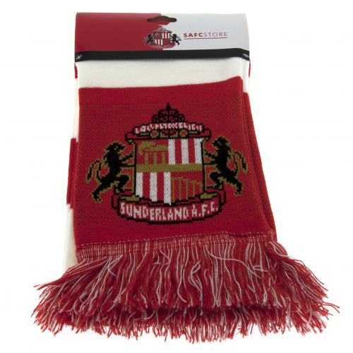 Sunderland AFC - Red and White Bar Scarf